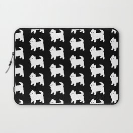 Westie Dog Pattern Laptop Sleeve