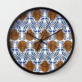 Horseshoe Crab Pattern Wall Clock