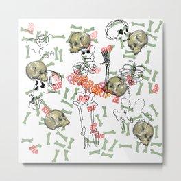 R.I.P. Funky skull joy death thing... I belive  Metal Print