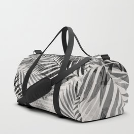 Palm Leaves - Black & White Duffle Bag