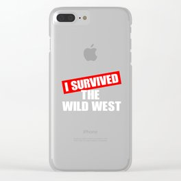 Wild West Collectible Survived Wild West Clear iPhone Case