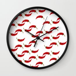 Hot red Chili pepper Wall Clock