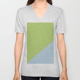 Soft Blue & Soft Green - oblique Unisex V-Neck