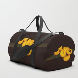 Golden eyelash viper Duffle Bag