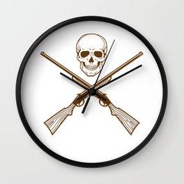 Hunting Skull Hunter Driven Hunt Stalker Wall Clock