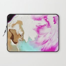 Happiness Ever Abstract Watercolor Painting Laptop Sleeve
