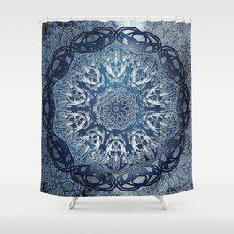 Indigo Nouveau Shibori Mandala Shower Curtain