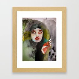 Hearts Attack Dangerous Minds and Cactus Framed Art Print