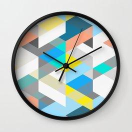 Bold Halequin Wall Clock