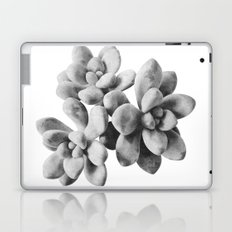 Succulent Blooms - Grayscale Laptop & iPad Skin