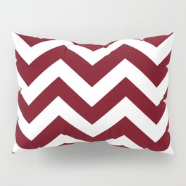 Rosewood - red color - Zigzag Chevron Pattern Pillow Sham