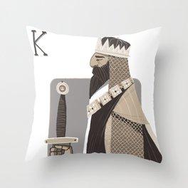 King A. Throw Pillow