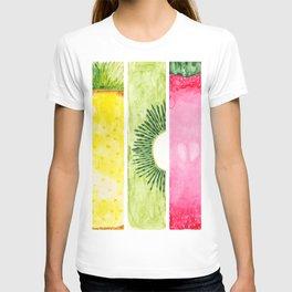 Summer Fruits Watercolor Abstraction T-shirt