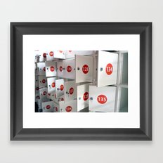Lockers Framed Art Print