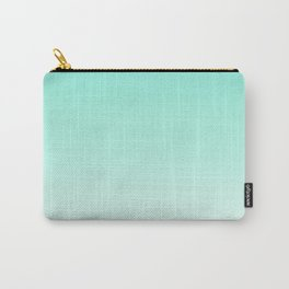 Ombre gradient digital illustration green, blue colors Carry-All Pouch