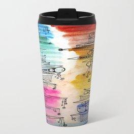 Colorful Zip Line Pattern Travel Mug