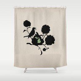 Michigan - State Papercut Print Shower Curtain