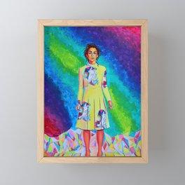 Bright Emilia Daeny Clarke Framed Mini Art Print
