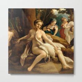 """Antonio Allegri da Correggio """"Leda and the Swan"""" Metal Print"""