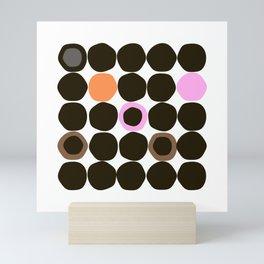 Dot pattern Mini Art Print