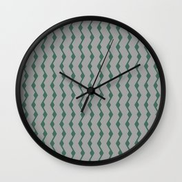 Teal lines Wall Clock