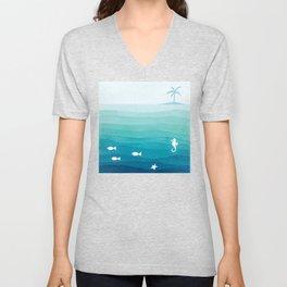 Desert island Unisex V-Neck