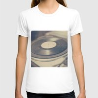 vinyl T-shirts featuring Vinyl  by Caroline Mint