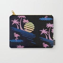 sea flamingo bird beach blue pink Carry-All Pouch