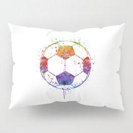 Soccer Ball Watercolor Sports Art Pillow Sham