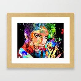Prince Grunge Framed Art Print