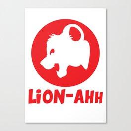Lion-ahh Canvas Print