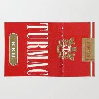 cigarette Area & Throw Rugs featuring Turmac - Vintage Cigarette by Fernando Vieira