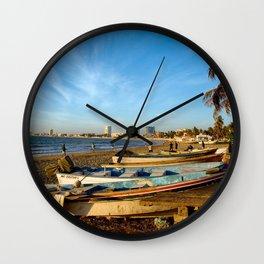 Mazatlan Beach & Boats Wall Clock