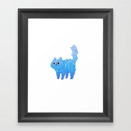 Crystal Cat Framed Art Print