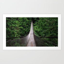 Romantic Overpass In Middle Of Jungle Ultra High Resolution Art Print
