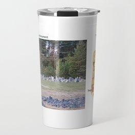 Real vs. Art: Treblinka Monument Travel Mug