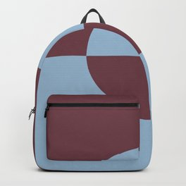 Pastel Blue & Burgundy Minimal Circle Design 2 2021 Color of the Year Earth's Harmony Mulberry Tree Backpack