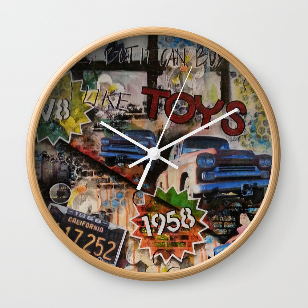 Toys For Big Boys,.. And Girls Wall Clock by 9naart