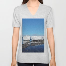 Icebergs Beached by the tides Unisex V-Neck