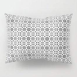 Oriental Style Mosaic Pattern  - Black and White Pillow Sham