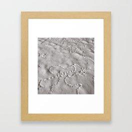Bird Tracks Framed Art Print