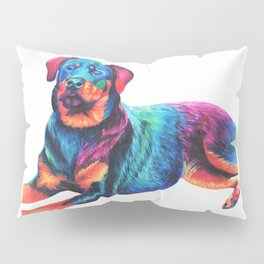 Colorful Rottweiler Pillow Sham