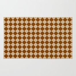 Tan Brown and Chocolate Brown Diamonds Rug
