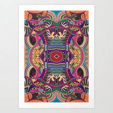 Psychedelic Daze Art Print