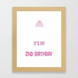 I Can't Keep Calm It's My Son's Daughter's 2nd Birthday Girl Boy Framed Art Print