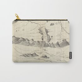 Vintage Map of The White Mountains (1852) Carry-All Pouch