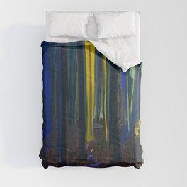 Stay Wild Yellow Moon Comforters