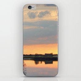 Sunset at horsey mere iPhone Skin