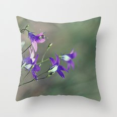 BlueBell Flower Nature Photography  Throw Pillow