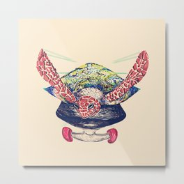 Swifty Turtle Metal Print